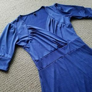 3/4 sleeve drape dress